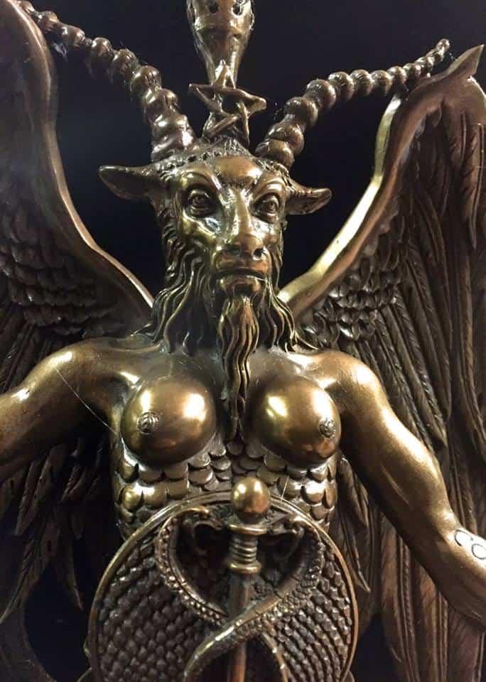 Baphomet Statue Cold Cast Bronze by Maxine Miller ©celticjackalope.com 3