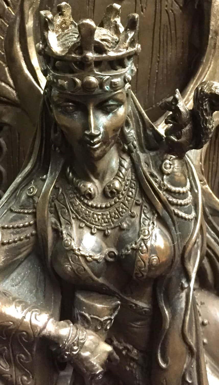 Celtic War an Love Goddess Maeve (Medb)Cold Cast Bronze Statue by Maxine Miller ©Maxine Miller - Zoom
