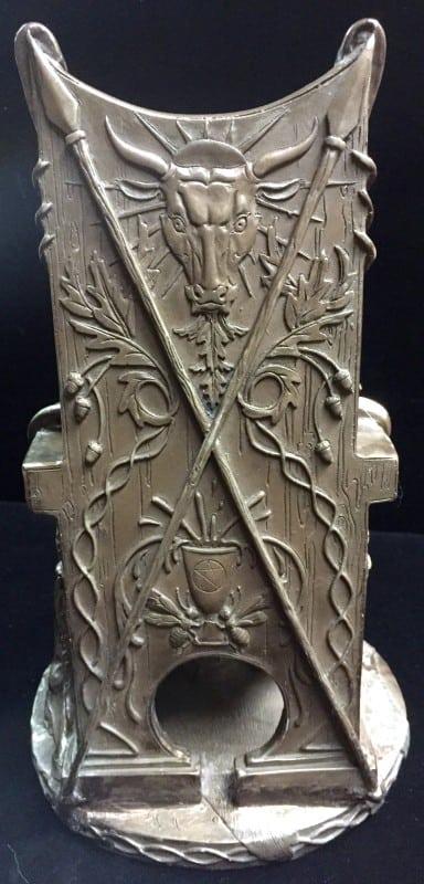 Celtic War an Love Goddess Maeve (Medb)Cold Cast Bronze Statue by Maxine Miller ©Maxine Miller - Rear View