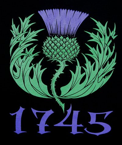 1745 Scottish Thistle T-shirt Commemorating Jacopite uprising and Culloden by Maxine Miller ©celticjackalope.com