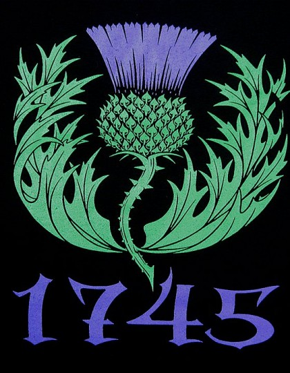 1745 Scottish Thistle T-shirt Commemorating Jacopite uprising and Culloden by Maxine Miller ©celticjackalope.com