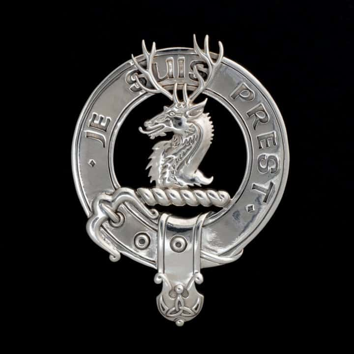 Clan Fraser of Lovat Clansman's Crest Badge Brooch .925 Sterling Silver by maxine Miller © CelticJackalope.com