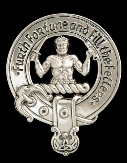 Clan Murray of Atholl Clansman's Crest Badge - Sterling Silver by Maxine Miller ©celticjackalope.com