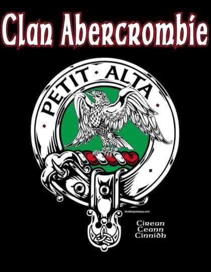 Clan Abercrombie Clansman's Crest badge T-Shirt by Maxine Miller ©celticjackalope.com