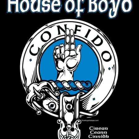 Clan Boyd (House of Boyd) Clansman's Crest Badge T-Shirt by Maxine Miller ©celticjackalope.com CONFIDO