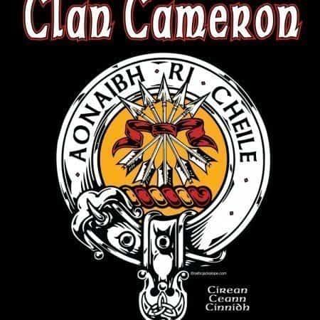 Clan Cameron Clansman's Crest badge T-Shirt by Maxine Miller ©celticjackalope.com