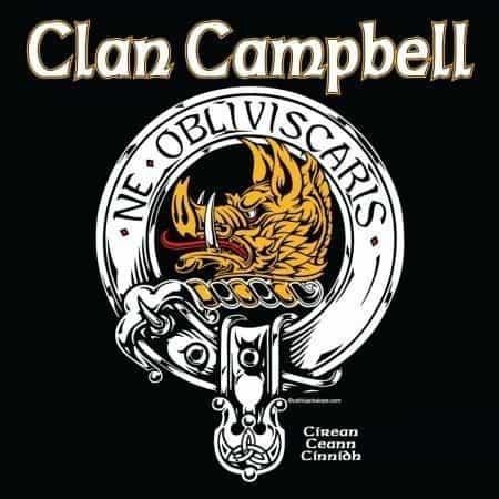 Clan Campbell Clansman's Crst Badge T-Shirt by Maxine Miller ©celticjackalope.com