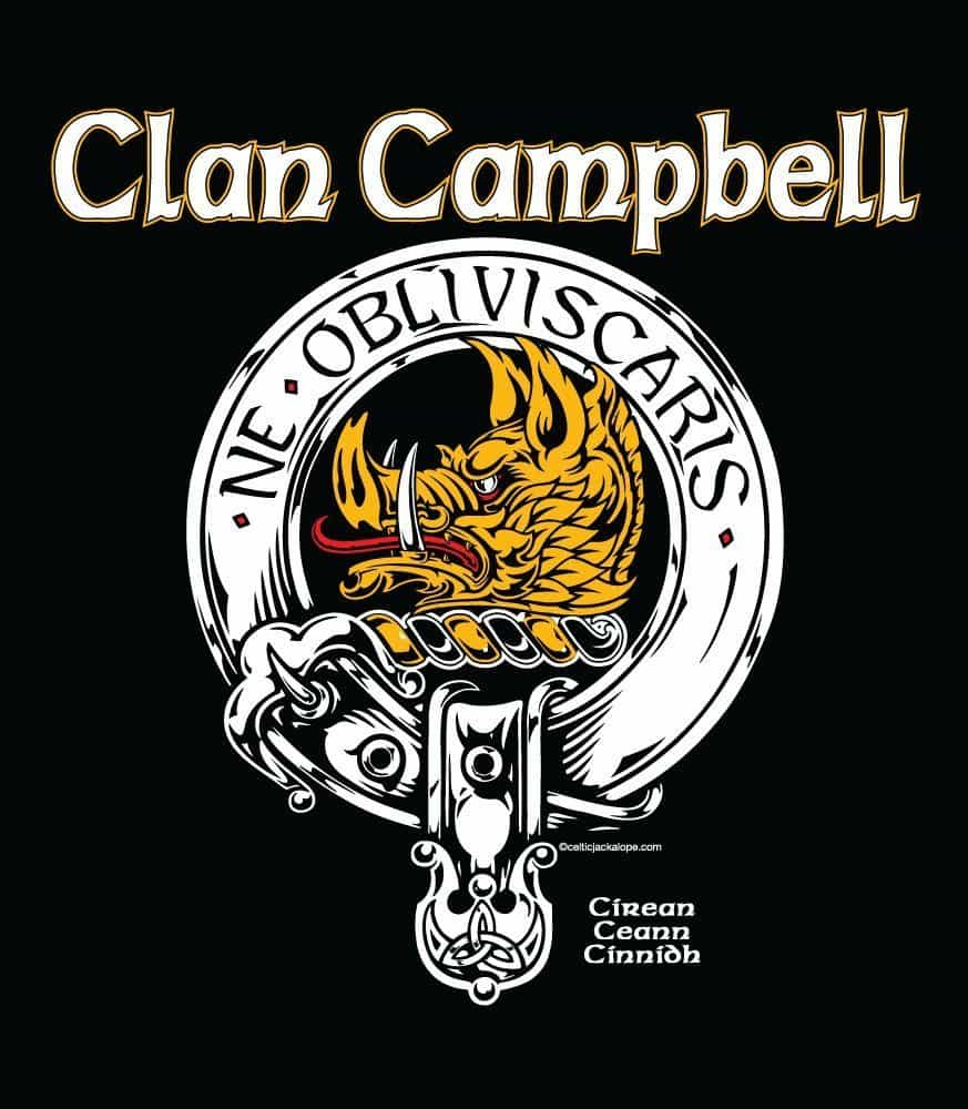 "CAMPBELL Clan Badge 2/"" Scottish NEW Scotland Crest Pin Badge"
