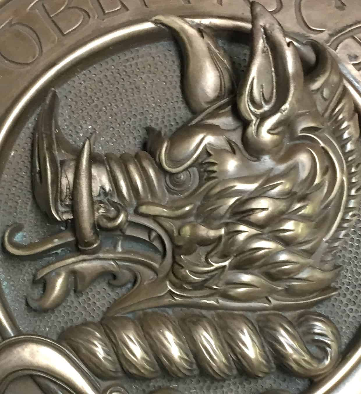 Clan Campbell Crest Badge Wall Plaque Cold Cast Bronze by Maxine Miller ©celticjackalope.com