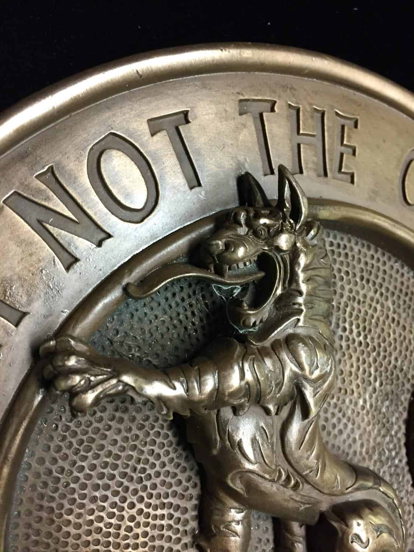 Clan MacPherson Clan Crest Wall Plaque Cold Cast Bronze by Maxine Miller ©celticjackalope.com