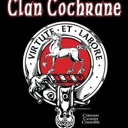 Clan Cochrane Clansman's Crest Badge T-shirt by Maxine Miller ©celticjackalope.com