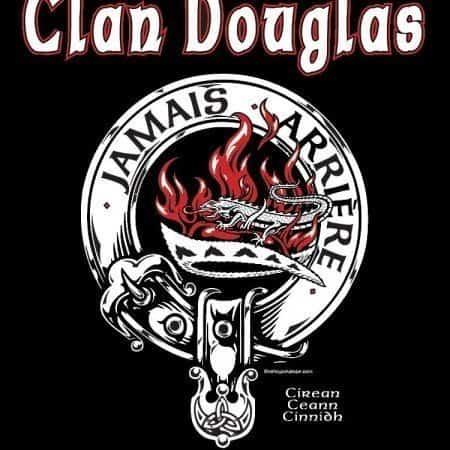 Clan Douglas Blck Douglas Clansman's Crest Badge T-Shirt by Maxine Miller ©celtcjackalope.com A DOUGLAS! A DOUGLAS!