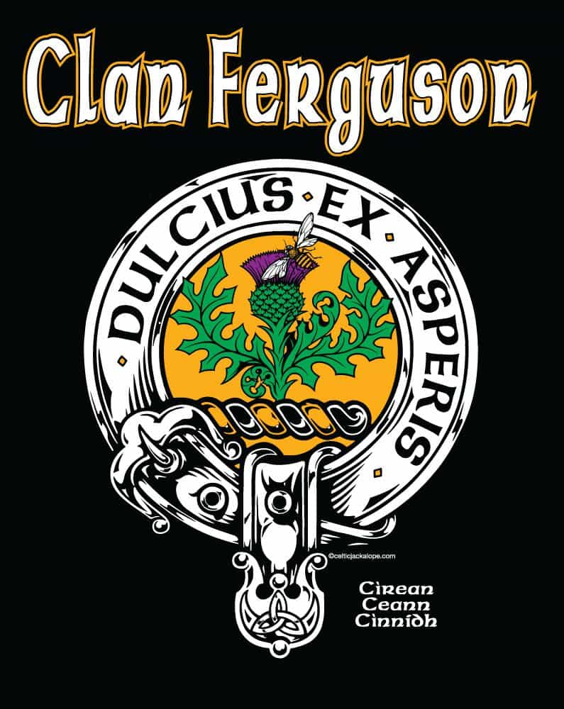 Clan Ferguson Clansman\'s Crest Badge T-Shirt – Celtic Jackalope