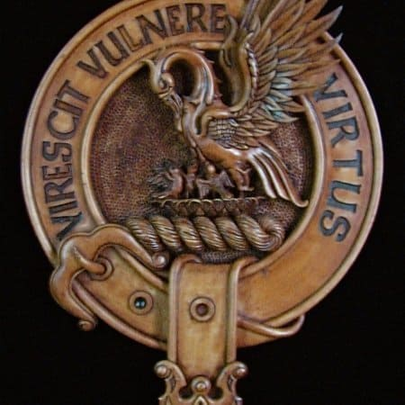 Stewart of Galloway Clan Crest Wall Plaque Wood by Maxine Miller