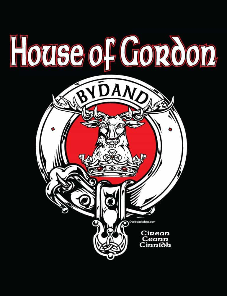 House of Gordon (Clan Gordon) Clansman's Crest Badge T-Shirt by Maxine Miller ©celticjackalope.com