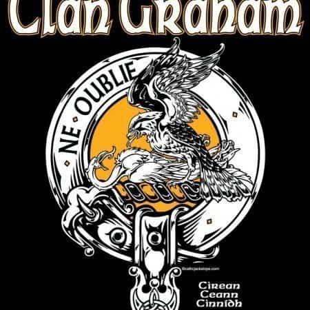 Clan Graham Clansman's Crest Badge T-Shirt by Maxine Miller ©celticjackalope.com