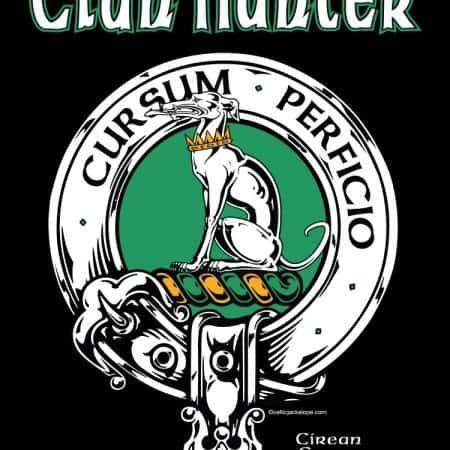 Clan Hunter Clansman's Crest Badge T-Shirts by Maxine Miller ©celticjackalope.com