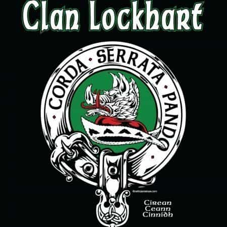 Clan Lockhart Clansman's Crest Badge T-Shirt by Maxine Miller ©celticjackalope.com I OPEN LOCKED HEARTS