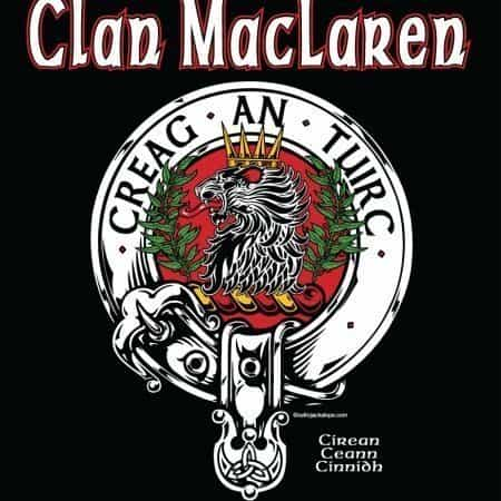 Clan MacLaren Clansman's Crestbadge T-Shirt by Maxine Miller ©celticjackalope.com CREAG AN TUIRC