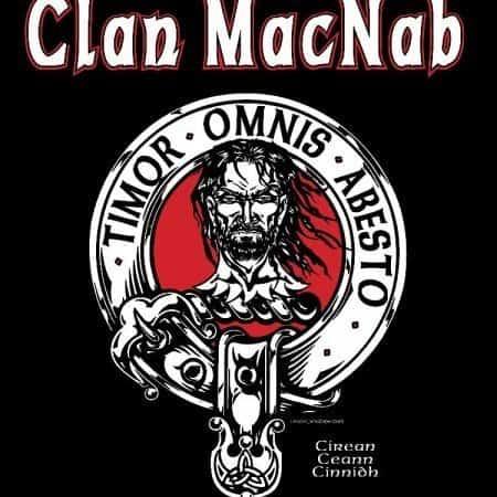 Clan MacNab Clansman's Crest Badge T-shirt by Maxine Miller ©celticjackalope.com