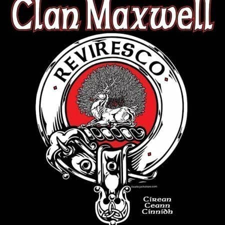 Clan Maxwell Clansman's Crest Badge T-Shirt by Maxine Miller ©celticjackalope.com REVIRESCO