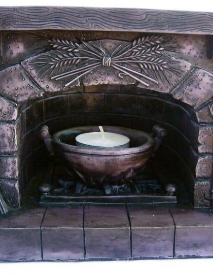 Sacred Magickal Hearth Altar Piece by Maxine Miller ©celticjackalope.com