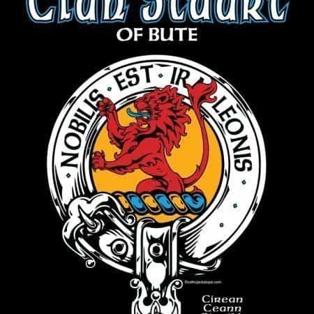 Clan Stuart of Bute Clansman's Crest Badge T-Shirt by Maxine Miller ©celticjackalope.com