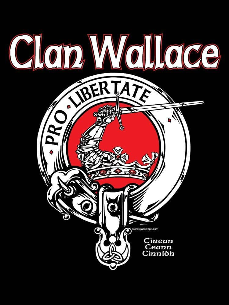 Clan Wallace Clansman's Crest Badge T-Shirt by Maxine Miller ©celticjackalope.com