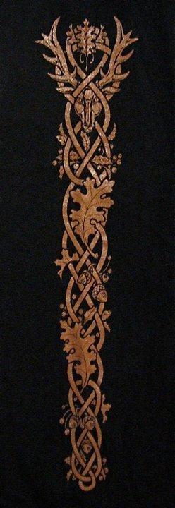 Long Sleeve CERNUNNOS Horned God of the Celts T-Shirt by Maxine Miller ©celticjackalope.com