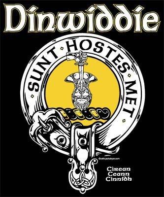 Clan Dinwiddie Clansmans Crest Badge T Shirt by Maxine Miller ©celticJackalope.com