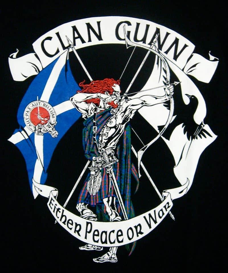 Clan Gunn Archer T-Shirt by Maxine Miller ©celticjacklalope.com AUT PAX AUT BELLUM