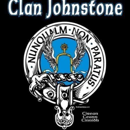 Clan Johnstone Clansman's Crest Badge T-Shirt by Maxine Miller ©celticjackalope.com