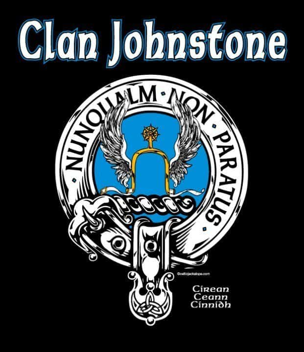 Clan Johnstone Clansman's Crest Badge T-Shirt by Maxine Miller ©celticjackalope.com