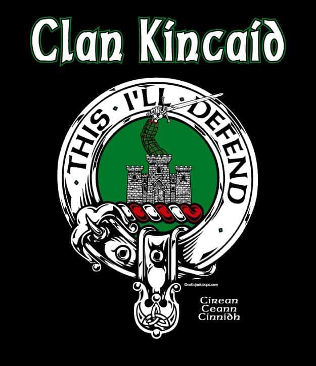 Clan Kincaid Clansman's Crest Badge T-Shirt by Maxine Miller ©celticjackalope.com