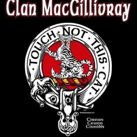 Scottish Clan MacGillivray Clansman's Crest Badge T-Shirt by Maxine Miller ©celticjackalope.com