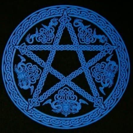 Long Sleeve Cleitc Pentagram Pentacle T-Shirt by Maxine Miller ©celticjackalope.com
