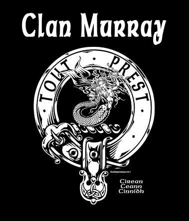 Clan Murray Clansman's Crest Badge T-Shirt Mermaid Crest Artist: Maxine Miller ©celticjackalope.com