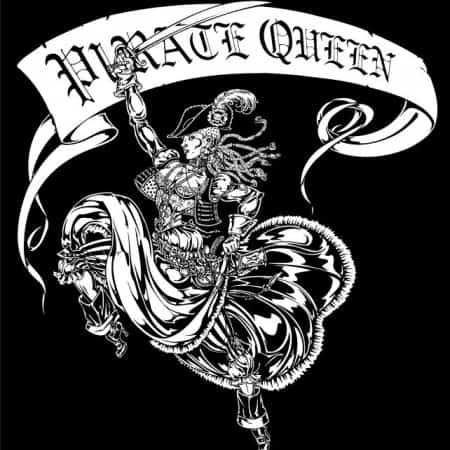 Prate Queen Ladies V-Neck Tee by Maxine Miller ©ceticjackalope.com