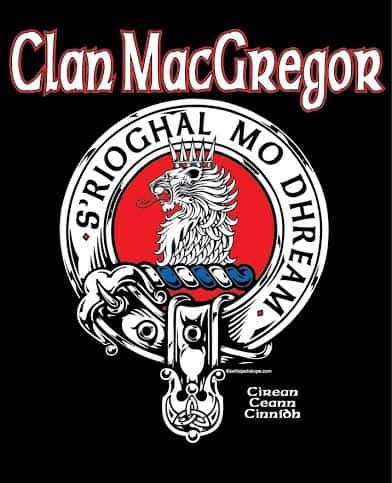 Clan Macgregor Clansman's Crest Badge T-Shirt ©CelticJackalope.com