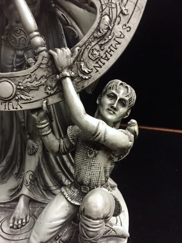 Arianrhod Stone Finish Resin Statue by Maxine Miller © Maxine Miller - Close up 1