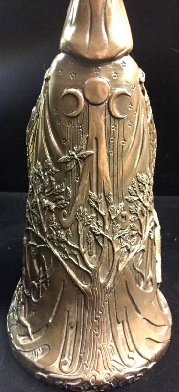 Celtic Goddess Danu Cold Cast Bronze Resin Statue by Maxine Miller ©Maxine Miller - Rear View