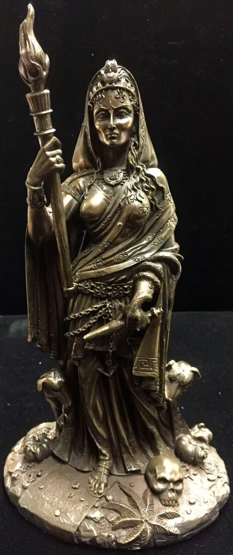 Hecate/Hekate Cold Cast Bronze Statue by Maxine Miller ©celticjackalope.com