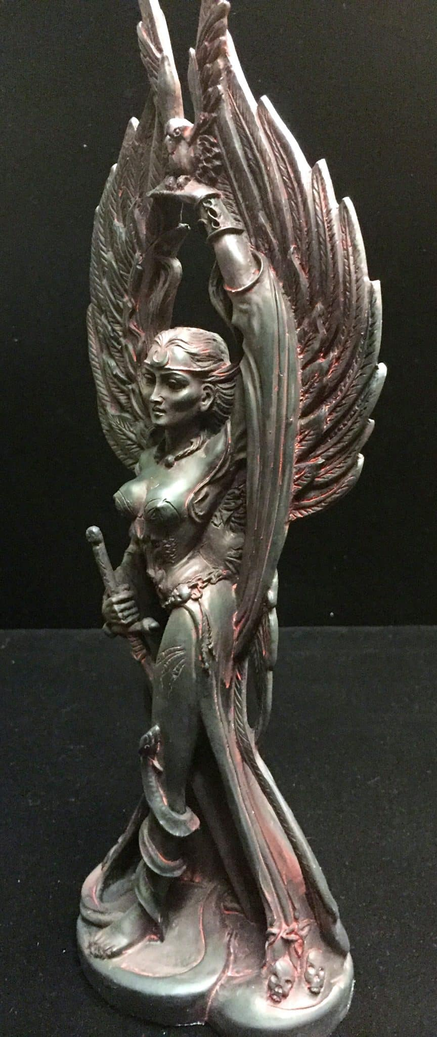 Celtic Goddess of Death and War Morrigan Statue by Maxine Miller ©celticjackalope.com 2