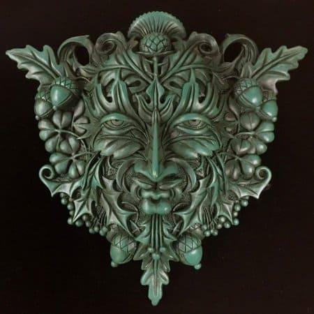 Celtic Greenman Wall Plaque Artist: Maxine Miller ©celticjackalope.com
