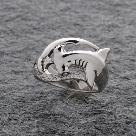 Hammerhead Shark Ring Sterling Silver ©celticjackalope.com #Sharkweek