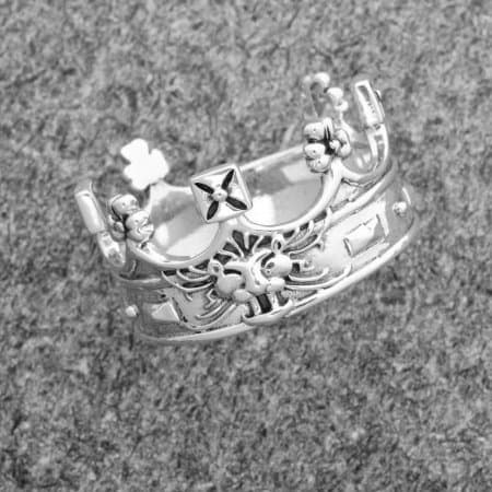 Celtic Jackalope's 925 Sterling Silver Royal Crown/Ducal Coronet Ring by Maxine Miller