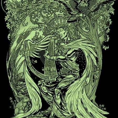 Taliesen Divine Bard T-Shirt by Maxine Miller