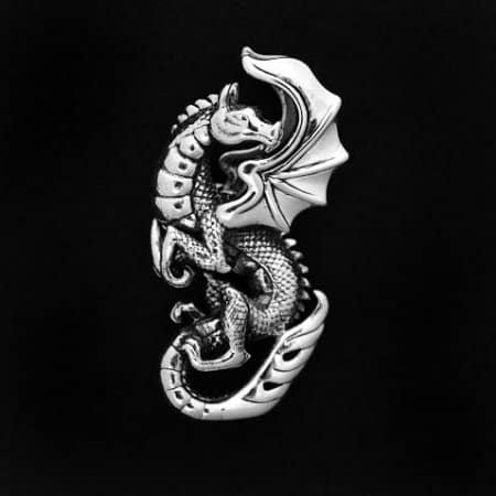 Large Flying Dragon Pendant by Maxine Miller