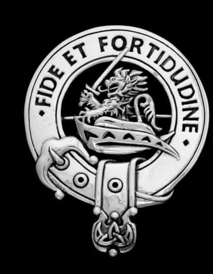Clan Farquharson Clansmans Crest Badge - White Bronze