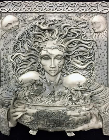 Celtic Goddess Cerridwen Stone by Maxine Miller ©celticjackalope.com